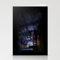 castlevania Stationery Cards featuring Castlevania: Vampire Variations- Bridge by LightningArts