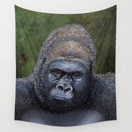 Endangered Gorilla Wall Tapestry