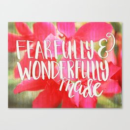 Fearfully and Wonderfully Made - Photo Expression Canvas Print