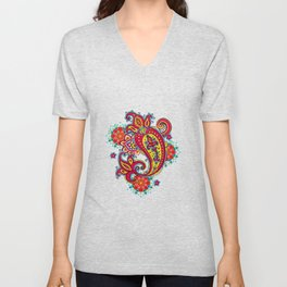 paisley exotique Unisex V-Neck