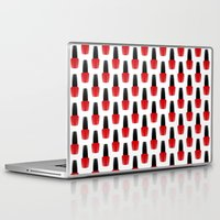 nail polish Laptop & iPad Skins featuring Red Nail Polish by lilacattack