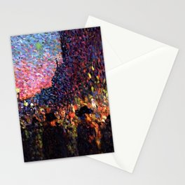 Paris Boulevard Masterpiece by Maximilian Luce Stationery Cards