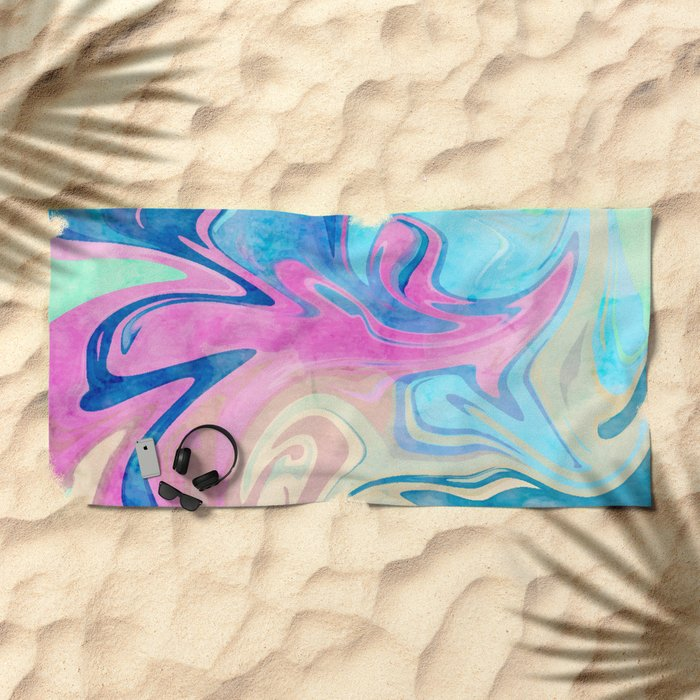 Candies & Sea #society6 #decor #buyart Beach Towel
