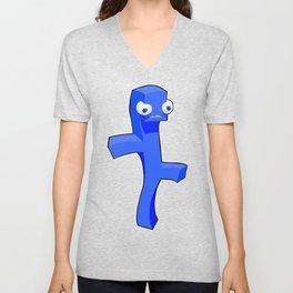 Blue Prism Dude Unisex V-Neck