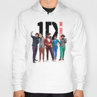 one direction Hoodies featuring One Direction by Marianna