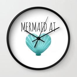 Mermaid At Heart     Teal Wall Clock