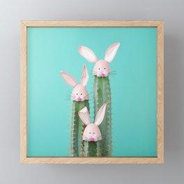 Bunny Cactus Framed Mini Art Print