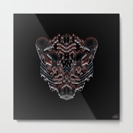 Tiger Abstract Metal Print