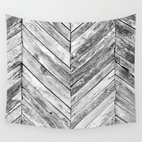 antique Wall Tapestries featuring Antique Wood by Patterns and Textures