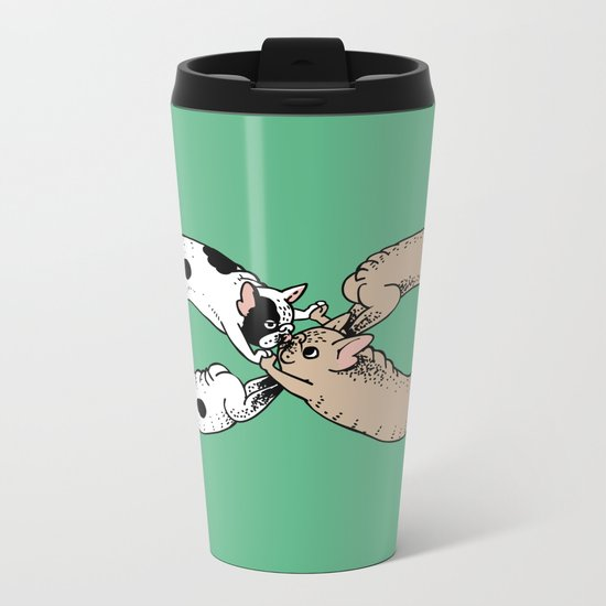 Infinity of Frenchie Metal Travel Mug