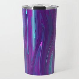 Pink, Purple, and Blue Waves 2 Travel Mug