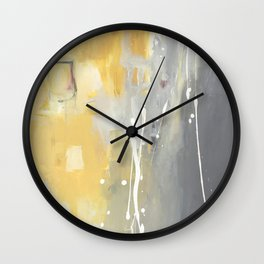 50 Shades of Grey and Yellow Wall Clock