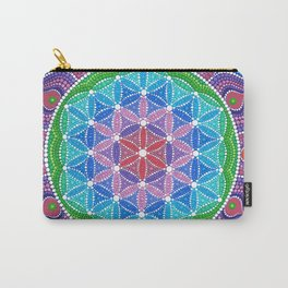 Lotus Flower of Life Carry-All Pouch