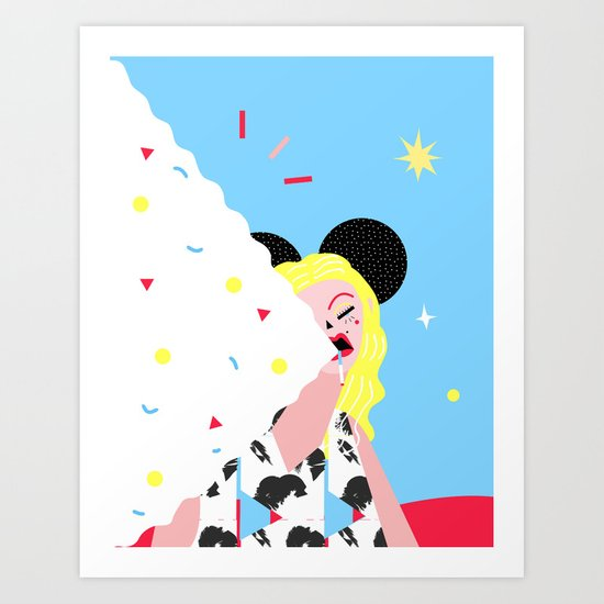 Hello, I'm Minnie, your new mama, love me, hate me, whatever. Art Print
