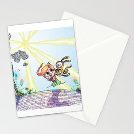 Laughing Along the Path - One Boy and a Toy Stationery Cards