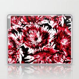 Red Black Abstract Flower Pattern  #Dahlias #Flowers Laptop & iPad Skin