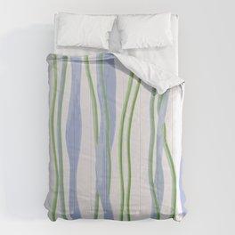Blue and Green Cut Yarn Comforters