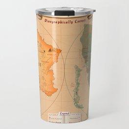 World of Wine Map Travel Mug