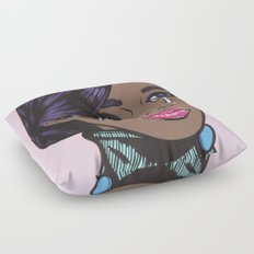 Crying Pastel African American Woman Floor Pillow
