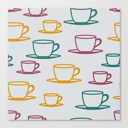 Teacups - multicolored Canvas Print