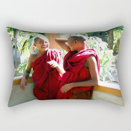 Laughter at th Monastey, Myanmar Rectangular Pillow