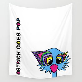 Ostrich Goes Pop Wall Tapestry