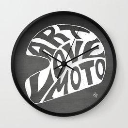 Art Love Moto Helmet Wall Clock