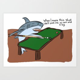Pool Sharks Art Print