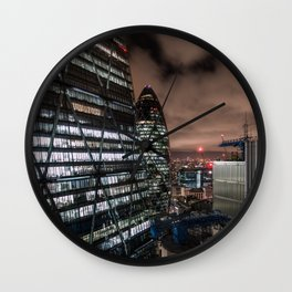 London, The City Wall Clock
