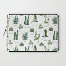 watercolour cacti and succulent Laptop Sleeve