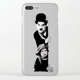 Chaplin and the kid - Urban ART Clear iPhone Case