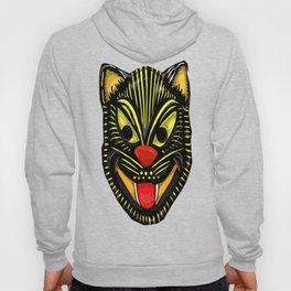 Retro Halloween Mask Cat Hoody