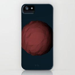 Planet Mars Low Poly iPhone Case