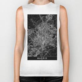Madrid Black Map Biker Tank