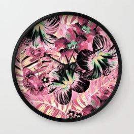 Vintage Pink Aloha Wall Clock