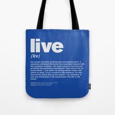 definition LLL - Live 6 Tote Bag