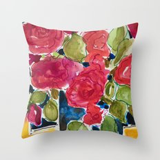 For the roses Throw Pillow
