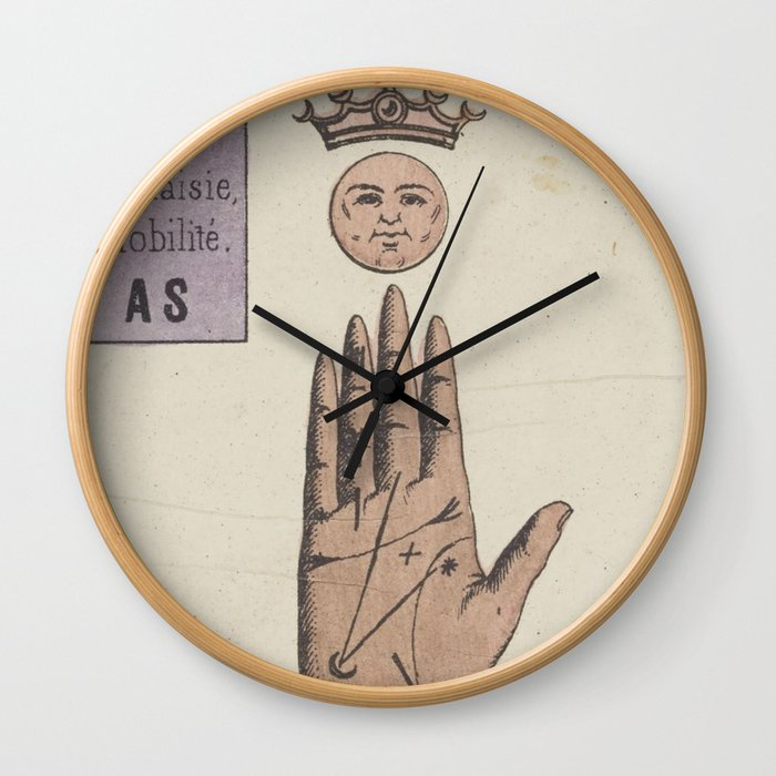 Vintage French Moon Tarot Card Wall Clock