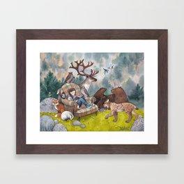 Her Secret Place Framed Art Print