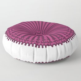 Reaction Diffusion Ornament (Purple Pink) Floor Pillow