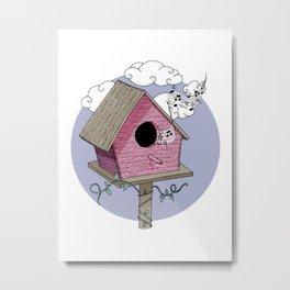 Bird's house: The Singer Metal Print
