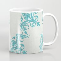 teal Mugs featuring Teal by Juste Pixx Designs