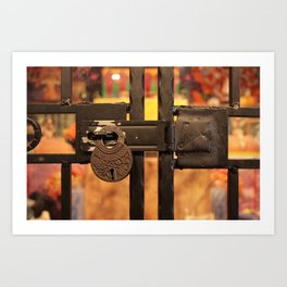 All Locked Up Art Print