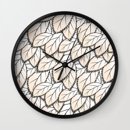Leaves 2 Wall Clock