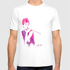 Audrey Stencil Mens Fitted Tee White MEDIUM