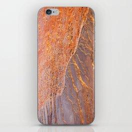 Travertine - orange iPhone Skin