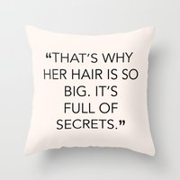 mean girls Throw Pillows featuring MEAN GIRLS QUOTE by kooksoul
