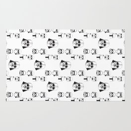 Starwars pattern. Darth Vader, Stormtrooper, Kylo Ren, Captain Phasma helmet pattern. Rug