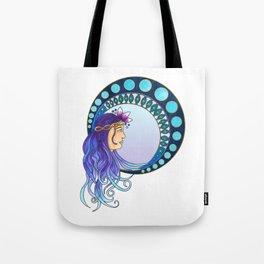 Purple lady - Art Nouveau style Tote Bag