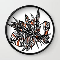 crown Wall Clocks featuring CROWN by Faustine BLESSON